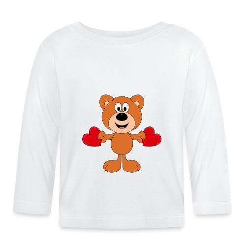TEDDY - BÄR - LIEBE - LOVE - KIND - BABY - Baby Langarmshirt