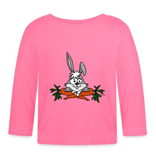 Lapin avec carottes, végétarien, végan - T-shirt manches longues Bébé