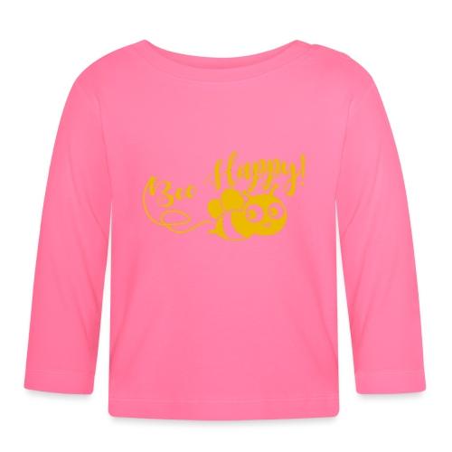 bee happy geel - T-shirt