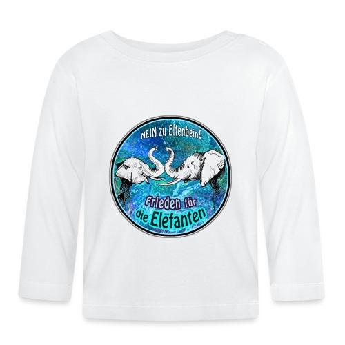 Frieden für die Elefanten - Baby Langarmshirt