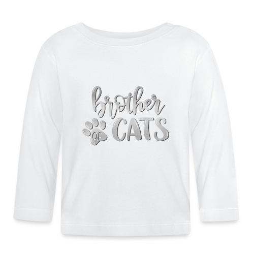 brother of cats grau - Baby Langarmshirt