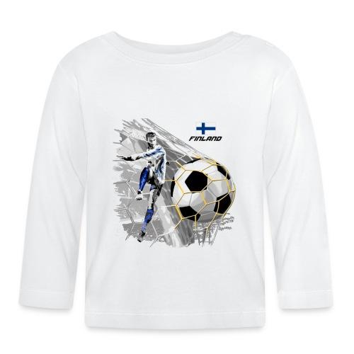 FP22F 05 FINLAND FOOTBALL - Vauvan pitkähihainen paita