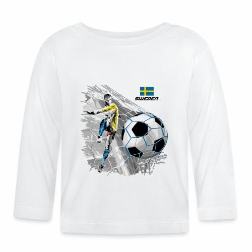 FP22F 16 SWEDEN FOOTBALL - Vauvan pitkähihainen paita