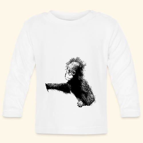 Orang-Utan-Baby schwarz - Baby Langarmshirt
