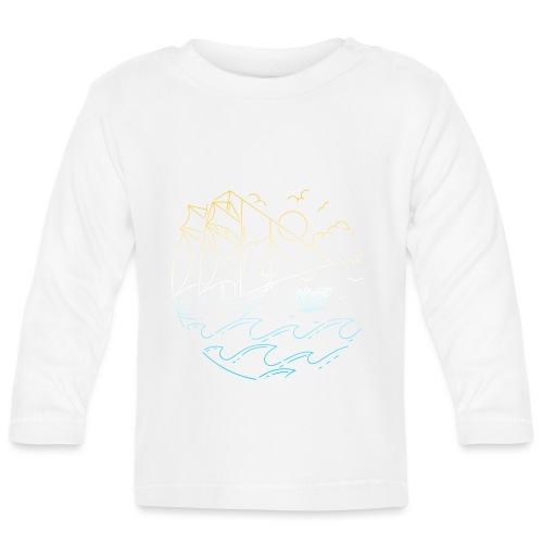 Schiff mit Sonne und Meer - Baby Langarmshirt