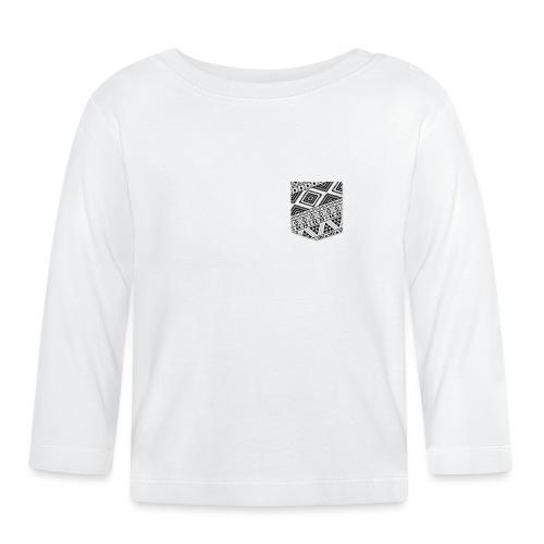 Poche Aztec blanc sur n - T-shirt manches longues Bébé