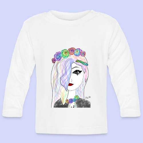 Rainbow flower girl - Female shirt - Langærmet babyshirt