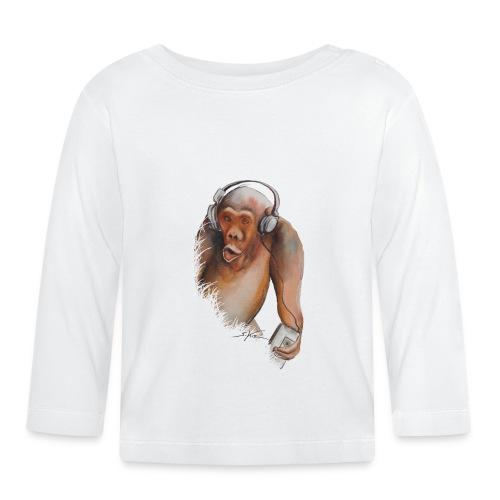 Singe old fashion - T-shirt manches longues Bébé