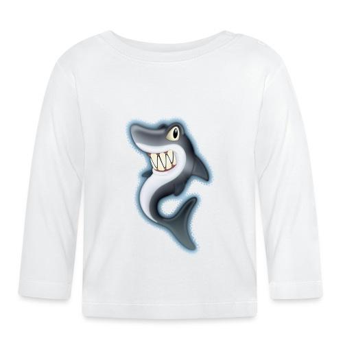 Cartoon Shark - Baby Long Sleeve T-Shirt