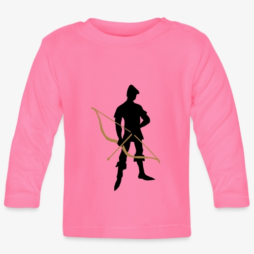 Archer with recurve bow by patjila - Baby Long Sleeve T-Shirt