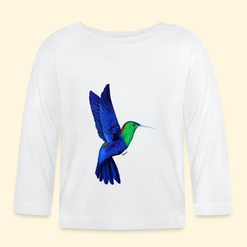 Colibri bleu et vert - T-shirt manches longues Bébé