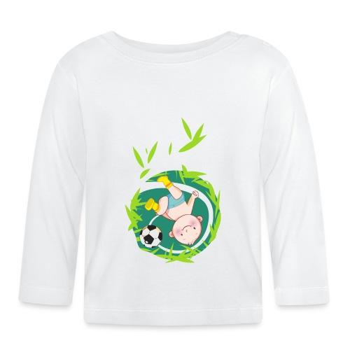 Umstandsmode T-Shirt mit Motiv / Fussball - Baby Langarmshirt