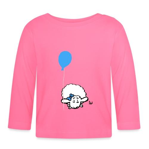 Babylam med ballon (blå) - Langærmet babyshirt