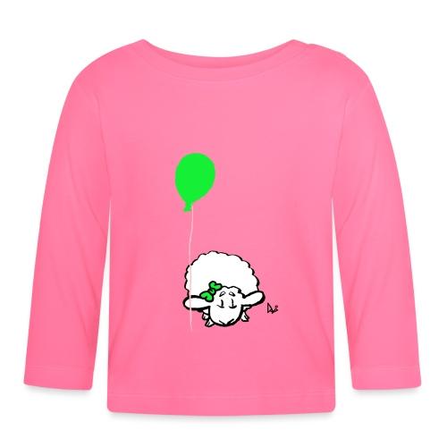 Babylam med ballon (grøn) - Langærmet babyshirt