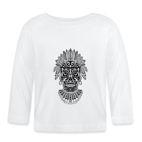 Black shaman skull - Maglietta a manica lunga per bambini
