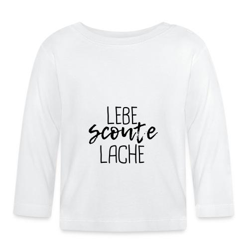 Lebe Scoute Lache Lettering Brush - Farbe wählbar - Baby Langarmshirt