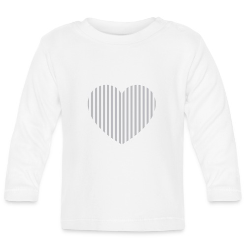 heart_striped.png - Baby Long Sleeve T-Shirt