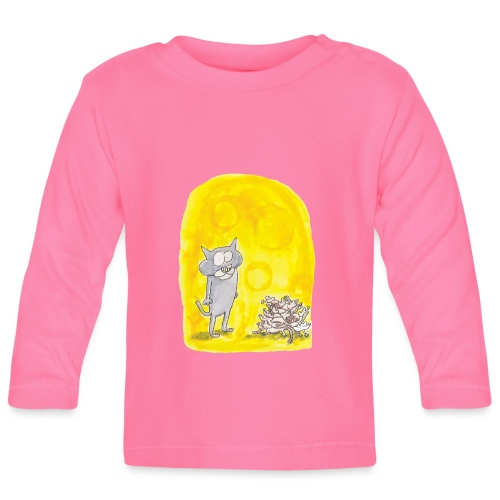 Le chat et les souris - T-shirt manches longues Bébé