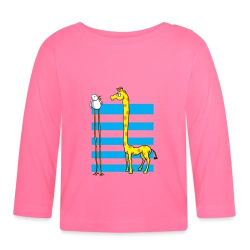 La girafe et l'échassier - T-shirt manches longues Bébé