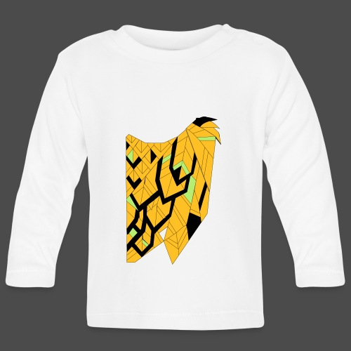 Owl Colour Redraw - Baby Long Sleeve T-Shirt