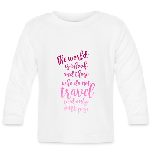 The World is a Book - Långärmad T-shirt baby