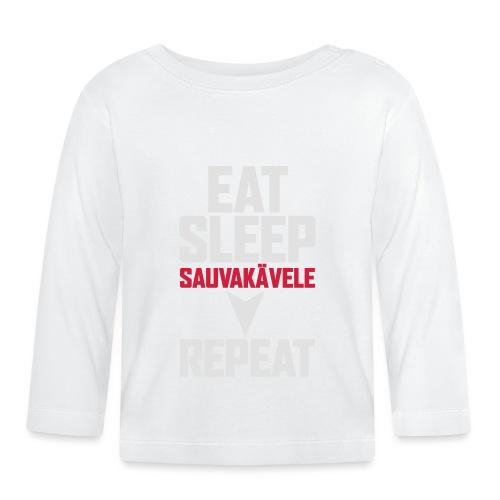 Eat, sleep, sauvakävele, repeat - Vauvan pitkähihainen paita