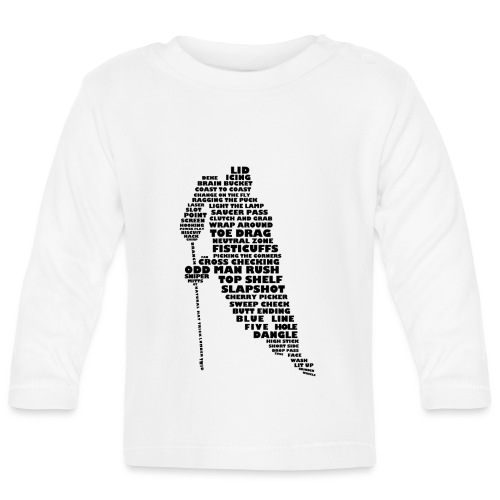 Language of Hockey (Black) - Baby Long Sleeve T-Shirt
