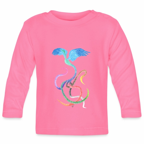 Gracieux - Oiseau arc-en-ciel à l'encre - T-shirt manches longues Bébé