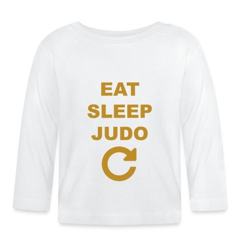 Eat sleep Judo repeat - Koszulka niemowlęca z długim rękawem