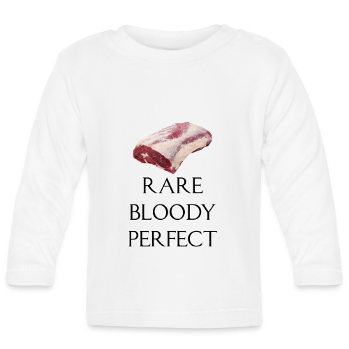 Rare Bloody Perfect , beef for the meat eater - Langærmet babyshirt