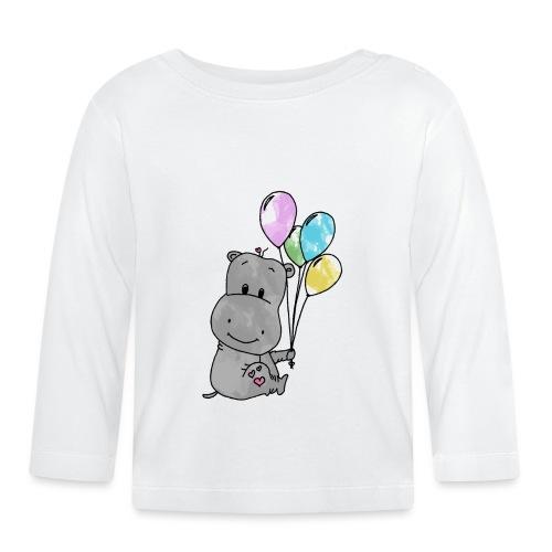 Hippo - Baby Langarmshirt