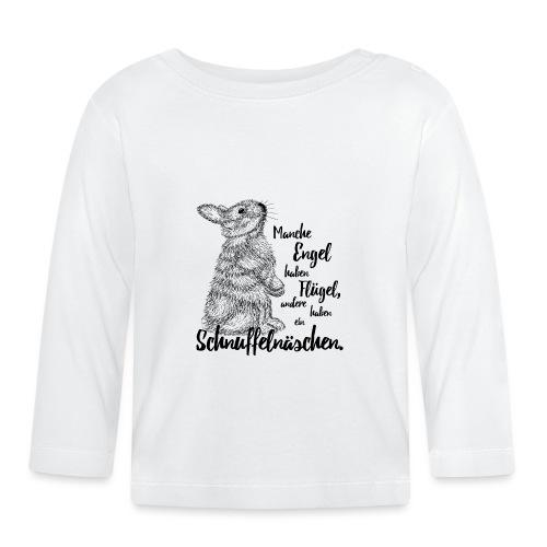 Kaninchen Hasen Zwergkaninchen Engel Liebe - Baby Langarmshirt