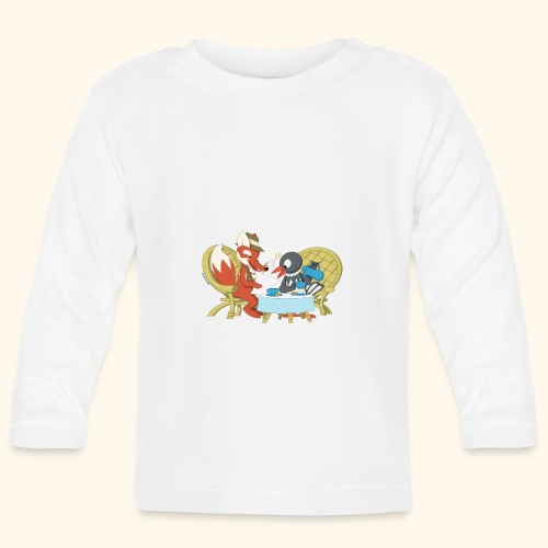 Fuchs und Elster beim Kaffeeklatsch - Baby Langarmshirt