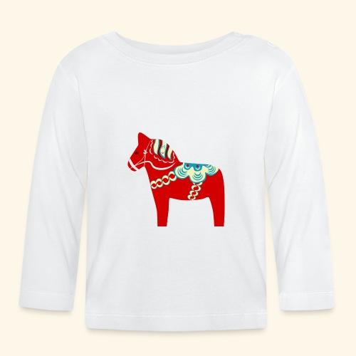 Röd dalahäst - Långärmad T-shirt baby