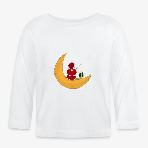 Santa sur un croissant de lune - T-shirt manches longues Bébé