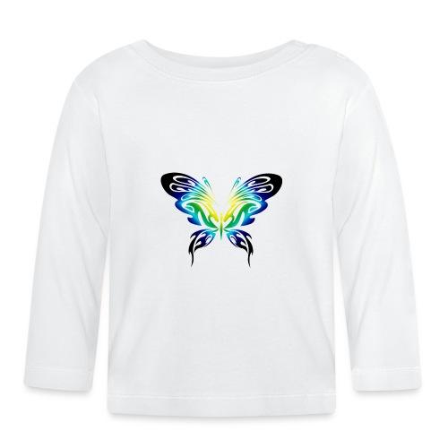 Motyl kolor - Koszulka niemowlęca z długim rękawem