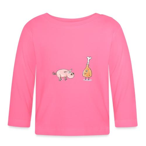 Le cochon et le jambon - T-shirt manches longues Bébé