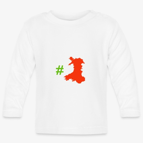 Hashtag Wales - Baby Long Sleeve T-Shirt