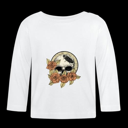 Rose et tête de mort - T-shirt manches longues Bébé
