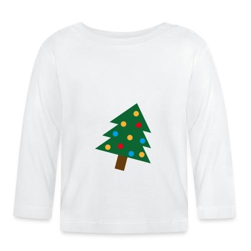 Weihnachtsbaum für hässliche Weihnachten - Baby Langarmshirt