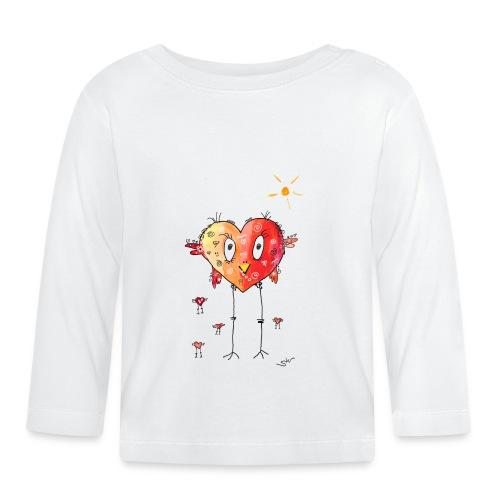 Happy heart - Baby Langarmshirt