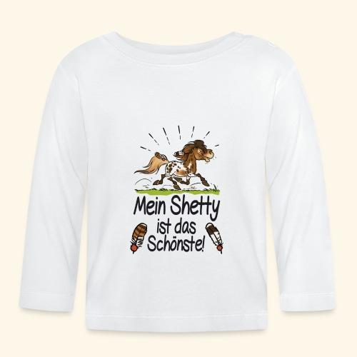 Mein Shetty das Schönste (Text schwartz) - T-shirt manches longues Bébé