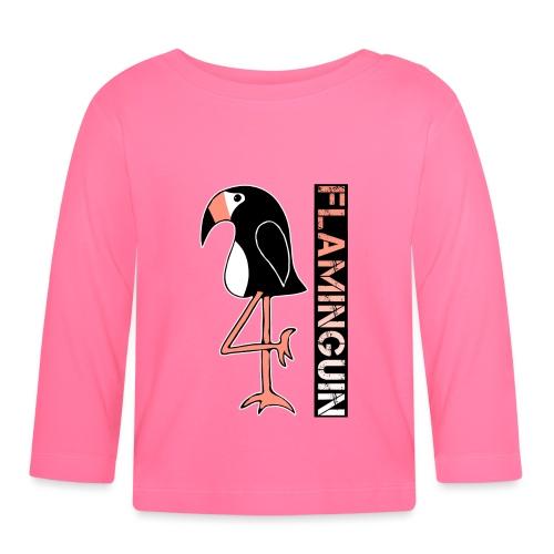 Pinguin Flamingo Flaminguin - Baby Langarmshirt