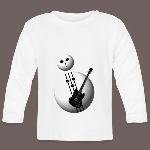 GBIGBO zjebeezjeboo - Rock - Bonhomme de neige en métal D-major - T-shirt manches longues Bébé