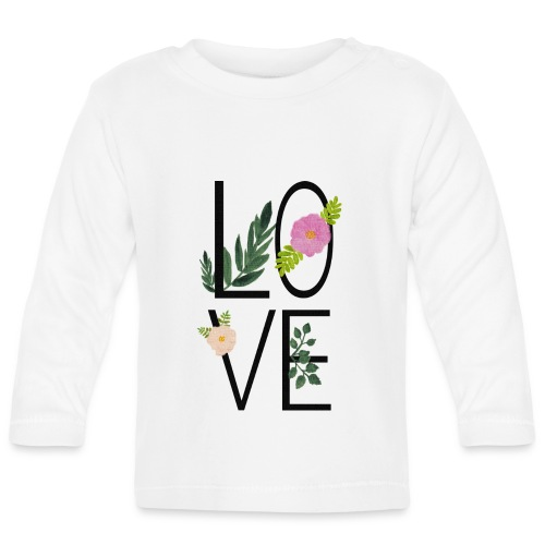 Love Sign with flowers - Baby Long Sleeve T-Shirt