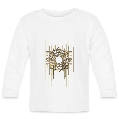Abstract Geometry Gold Metal Art Deco Vintage - Baby Long Sleeve T-Shirt
