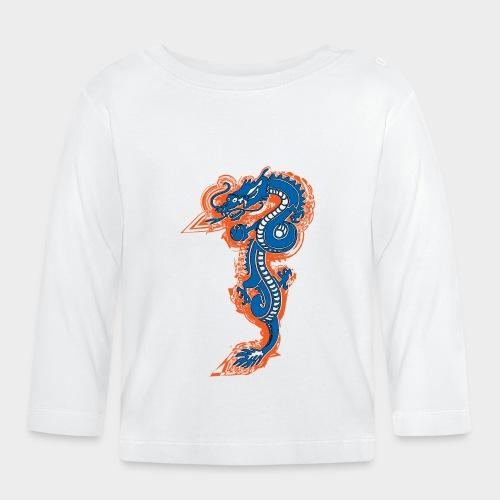 DRAGON AZUL Y NARANJA - Camiseta manga larga bebé