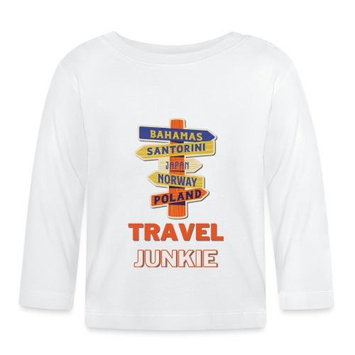 traveljunkie - i like to travel - Baby Langarmshirt