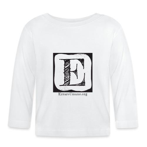 Logo ErrareUmano (scritta nera) - Maglietta a manica lunga per bambini