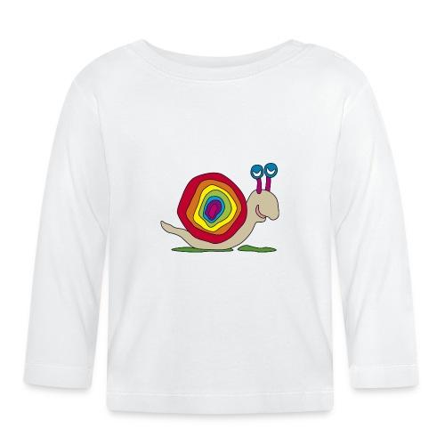 bunte Schnecke Stielauge Regenbogen Graffiti Kunst - Baby Long Sleeve T-Shirt
